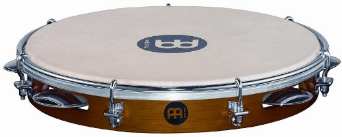 - Meinl Percussion PA10CN-M 10-Inch Traditional Wood Pandeiro with Goat Skin Head, Matte Chestnut Finish