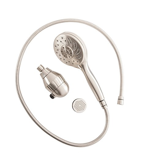 Culligan S-H200-BN Hand-Held Filtered Shower Head with Massage and Magnetic Base, Brushed Nickel Finish