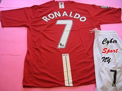 ba9868fc140 Image Unavailable. Image not available for. Color  MANCHESTER United C.  RONALDO Kids Soccer Jersey ...