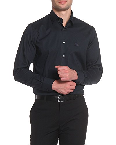 Roberto Cavalli - Men's Slim Fit Shirt FSR700 - Black, ()