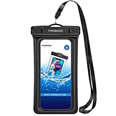 With the floating function of the case, you never again have to worry about water damages of your precious smartphone on your swimming, diving, drifting, surfing, mountaineering and fishing trips, the MoKo waterproof, snow proof, dirt proof c...