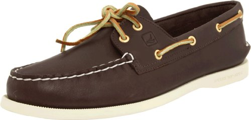 Hand Sewn Boat - Sperry Top-Sider Women's Authentic Original 2-Eye Boat Shoe,Brown,10.5 M US