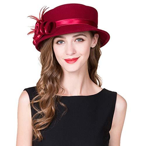 Rojo Otoño Boina Rojo Y Moda Sombrero Copa Del Cálida Vino Invierno El De Pequeño Las color Mujeres IZqZw4Hg