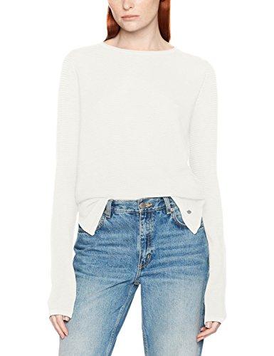 TOM TAILOR Ottomane Sweater, Pull Femme Ecru (Whisper White 8210)
