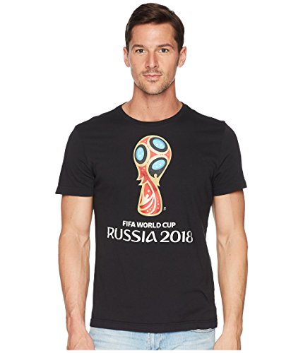 adidas World Cup Soccer World Cup Emblem Men's Tee, Large, - Adidas Mens World Cup