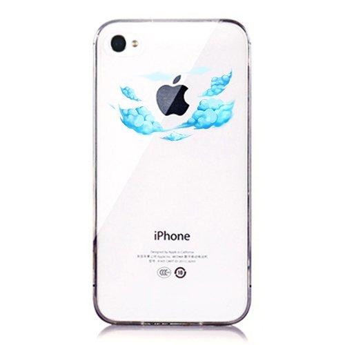 Cover Per Iphone 44s Motivo Onde Fresh Su Sfondo Disegnato Con