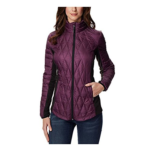 Ladies' Mixed Media Down Jacket Purple Medium