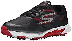Skechers Performance Men's Go Golf Blade Golf Shoe, Black/Red, 8.5 M US