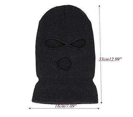 1 St/ück Sturmhaube Balaclava Skimaske 3 Loch Maske