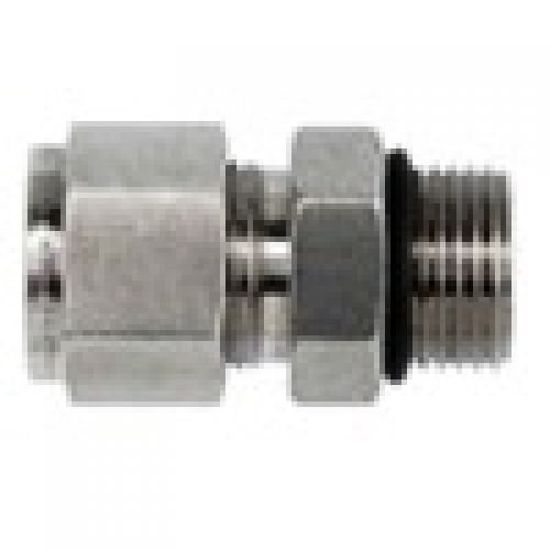 Stainless Steel Brennan 5 Units 3//8 in Instrumentation x 3//8 in Male O-Ring Boss Instrumentation Straight Adapter