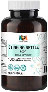 Stinging Nettle Root 100 Capsules, 1000mg Per Serving, Organic Stinging Nettle Root Urtica Dioica