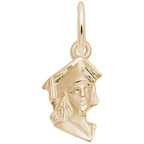 Rembrandt Charms Girl Graduate Charm, 10K Yellow Gold