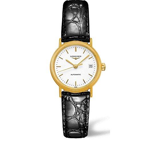 Longines La Grande Classique Presence - L4.821.2.12.2 - Yellow Gold PVD White Dial Date Automatic Women's - Watch Pvd White Dial