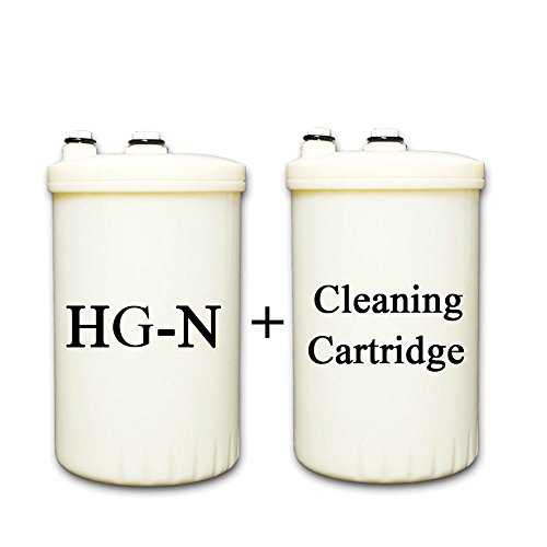 HG-N Type Compatible Replacement Filter for KANGEN Enagic Leveluk Water Ionizers + Cleaning Cartridge by IonHiTech