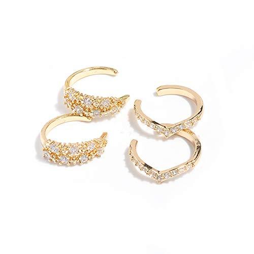 Vercret Gold Ear Cuff for Women - Cuff Earrings for Girls, Ear Cuff Earring Gifts for Friend,Sister, Daily wearing (v gold earrings)