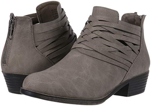Sugar Women's Rhett Casual Boho Short Bootie with Criss Cross Straps Ankle Boot, Grey Distressed, 9 Medium US by Sugar (Image #6)