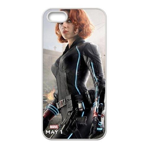 Avengers Age Of Ultron coque iPhone 5 5S Housse Blanc téléphone portable couverture de cas coque EBDOBCKCO12015