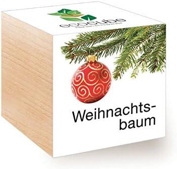 Ecocube Weihnachtsbaum im Holzw/ürfel