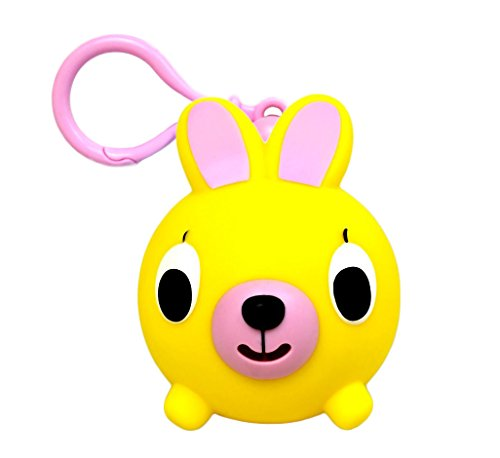 Oshaberi Doubutsu Talking Animal Ball Borukuma Stress Ball - Key Chain Clip - Yellow Bunny (Rabbit)