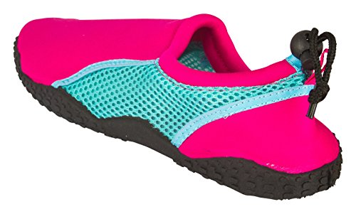 Sara Z Womens Neopreen En Mesh Water Beach Shoe Fuchsia / Turq