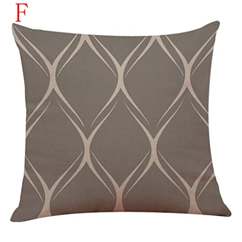 Weiliru Stripe Throw Pillow Cushion Cover, Modern Fractal Look with Vertical Line Pattern Soft Colors Illustration, Decorative Square Accent Pillow Case, 45cmx45cm by Weiliru (Image #3)