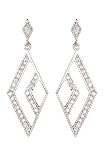 Sterling Silver and Swarovski Crystal Open Marquis Drop Earrings