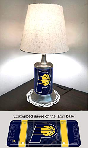 JS Pacers Table Lamp with Shade, Your Favorite Team Plate Rolled in on The lamp Base, Indiana P ()