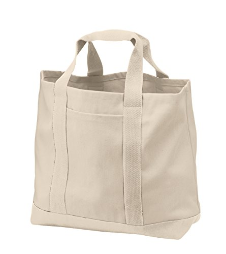 Heavy Duty Canvas (Pack of 3 - Heavy Duty Cotton Canvas Twill Travel Tote Bags Large Thick Reusable Blank Tote Bags - Shopping Grocery Bags Eco Friendly Canvas Bags in Bulk (Natural))
