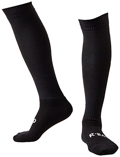Huathy Men's Compression Socks Professional Football Stockings Knee-High Long Sports Hose (Shoe 6-11, Black)
