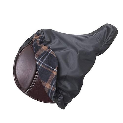 Centaur Fleece-Lined Saddle Cover Black/Brown by CENTAUR