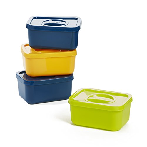 - Fit & Fresh Half-Cup Containers, Replacement Pods for Bento Lunch Box (Set of 4)