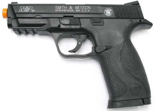 Smith & Wesson Soft Air M&P Spring Powered Pistol, Black, 7.5-Inch