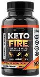 Keto Weight Loss MCT Pills - Keto Fire Exogenous Ketones BHB Capsules - Reach Ketosis Faster - 60 Capsules