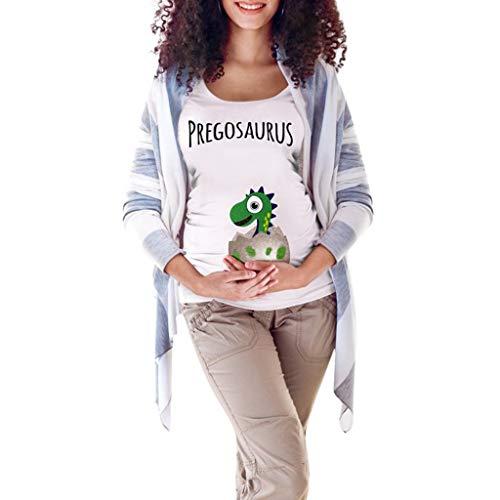 Little Story ❤❃Dresses, Women's Maternity Mommy Letter Easter Egg Dinosaur T-Shirt Tops Pregnancy Clotheby ()