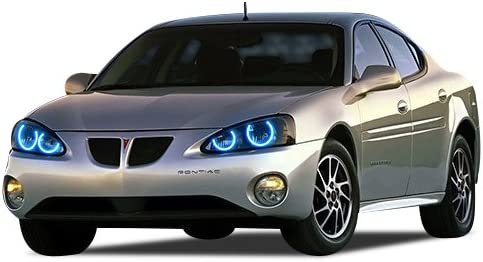 Amazon Com Flashtech For Pontiac Grand Prix 04 08 Blue Single Color Led Halo Ring Headlight Kit Automotive