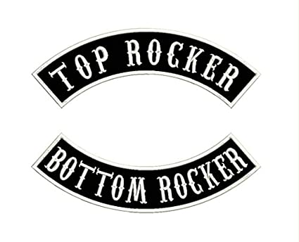 Custom Embroidered Personalized Biker PatchPunk Rocker Patch Rider Motorcycle Patches For Back Name