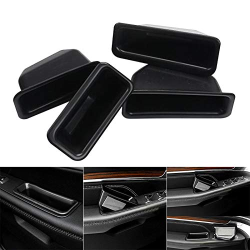 Ywillink 1Pair ABS Interior Front/Back Door Armrest Storage Box Trim for Ford Edge 2011-2018 ()