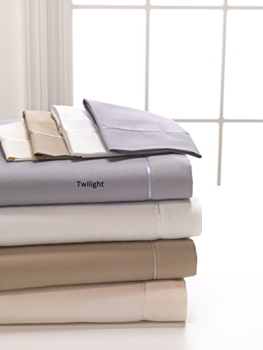 DreamFit 4-Degree 400 Thread Count Preferred 100-Percent Egyptian Cotton Sheet Set, King, Twilight by DreamFit