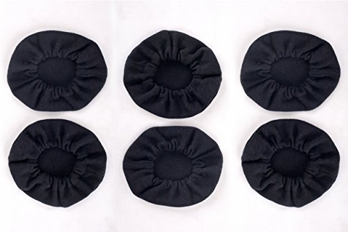 Pack of 6 Cloth Ear Cover for Pilot Aviation Headset ()