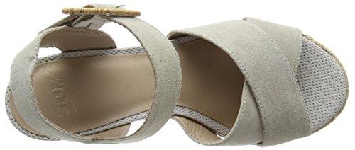 SPMLamborghini Sandal - sandalias de tacón con cierre al tobillo Mujer Gris - Grau (Lt Grey 009)