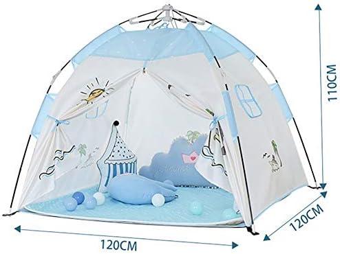 Tienda De Campaña Infantil, Juguete De Casa De Juegos para Niños, Castillo De Princesa Bebé Interior Y Exterior Casa De Juego Plegable De Camping,Azul