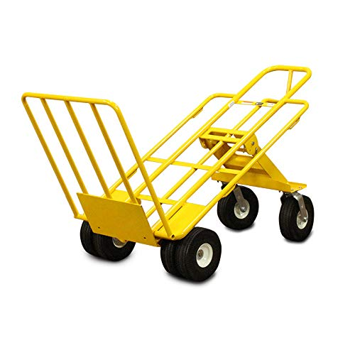American Cart & Equipment Multi-Mover XT with Rear Wheels and Foot Plate, 1000-Pound Capacity ...