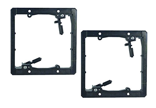 Gang Mounting Wall Bracket (iMBAPrice Dual Gang (2-Gang) Low Voltage Mounting Bracket - Black (Pack of 2))