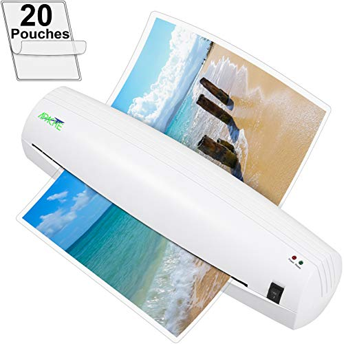 "Apache AL13W 13"" (Actually 12.6"" max Laminating Width) Thermal Laminator and 20 Laminator Pouches"