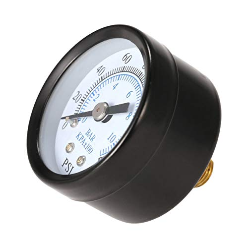 Profesional 1/8 de pulgada 160 psi 0-10 bar compresor medidor de presión de aire comprimido Medidor de escala doble pequeño...