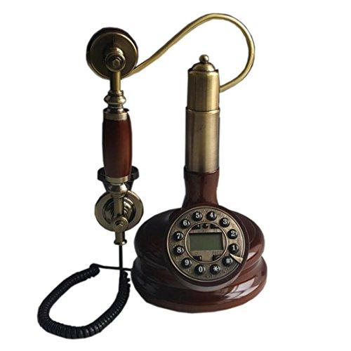 XY-QXZB Style européen Artisanat Retro Bois massif Antique Crochet Formulaire Téléphone