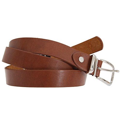 Forest Belts Mens 0.75 Inch Plain Skinny Leather Belt (Large (36