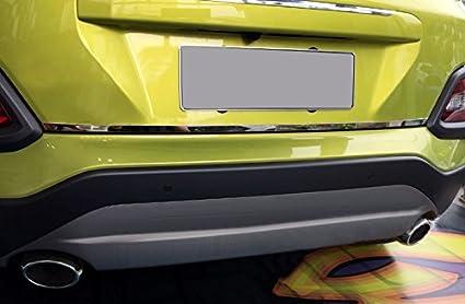 YUZHONGTIAN molduras de acero inoxidable para puerta trasera exterior 1 unidad para Kona 2017 2018