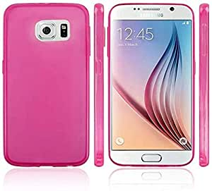 Calans Samsung Galaxy S6 Mosha Matte Tpu Gel Case Cover With Screen Protector - Hot Pink