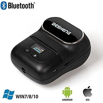 Amazon.com : Portable Bluetooth Thermal Printer Mini Mobile ...